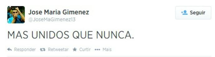 gimenez twitter suarez (Foto: Reprodução / Twitter)