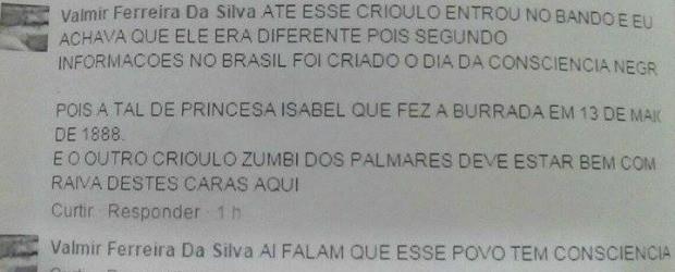 Comentário foi impresso pelo parlamentar e entregue à polícia (Foto: Arquivo pessoal/ Luis Costa)
