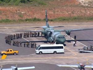 Força Nacional (Foto: Reprodução/TV Bahia)