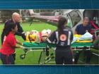 Acidente entre dois carros deixa idoso gravemente ferido em Tamarana