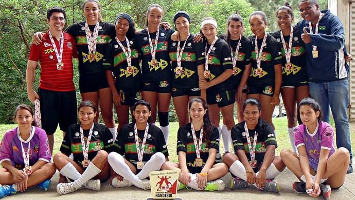 Equipe handebol feminino Matias Barbosa (Foto: Amanda Dias / Arquivo Pessoal)