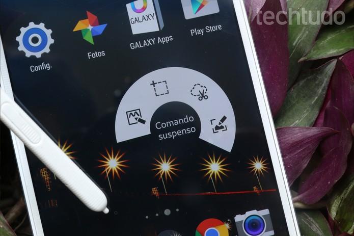 Comando Suspenso da S-Pen do Galaxy Note 4 (Foto: Lucas Mendes/TechTudo)