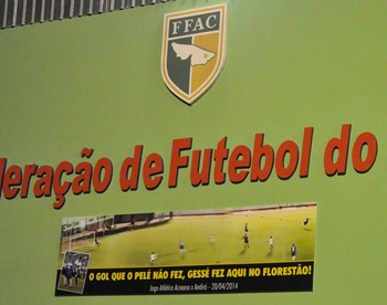 Federação homenageia Gessé com painel no estádio Florestão (Foto: Manoel Façanha/Arquivo pessoal)