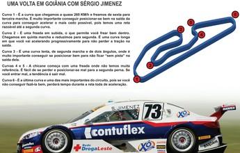 Piloto Sérgio Jimenez analisa pista de Goiânia antes de etapa da Stock Car