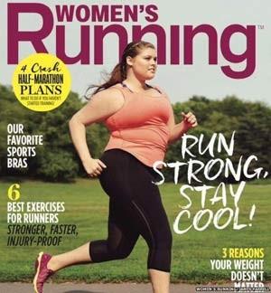 Capa da revista 'Women´s Running' com modelo plus size foi elogiada nas redes sociais (Foto: Women´s Running/ James Farrell/ BBC)