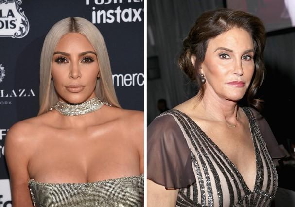 Kim Kardashian e Caitlyn Jenner (Foto: Getty Images)