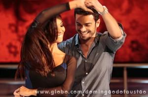 Que casal bonito! (Foto: Domingão do Faustão / TV Globo)