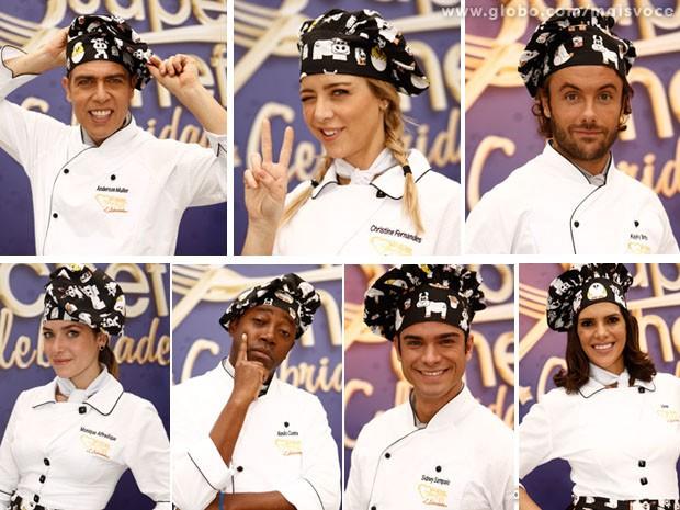 Conheça os sete famosos que vão participar do Super Chef Celebridades a partir de 12 de agosto (Foto: Mais Você / TV Globo)