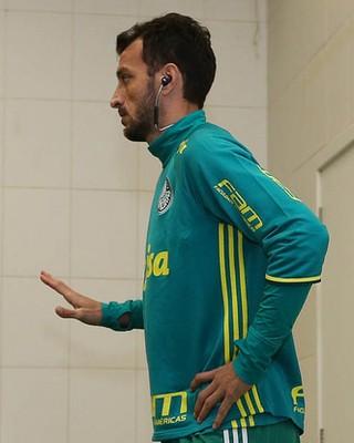 Edu Dracena Palmeiras vestiário Beira-Rio (Foto: Cesar Greco/Ag Palmeiras/Divulgação)