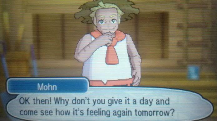 Pokémon Sun e Moon: se a tela acima aparecer, jogue novamente no dia seguinte para capturar o monstrinho (Foto: Reprodução / Thomas Schulze)