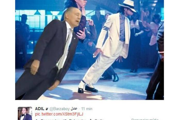 Montagem do técnico da Argentina em clipe de Michael Jackson