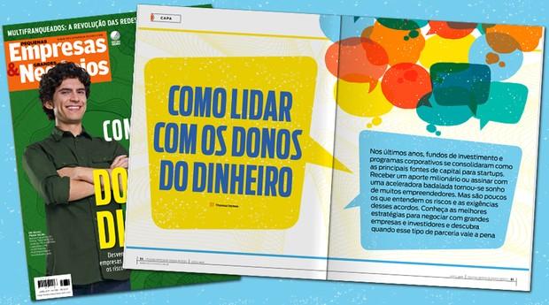 Capa da edição de maio da PEGN ensina a negociar com os donos do dinheiro (Foto: Reprodução)