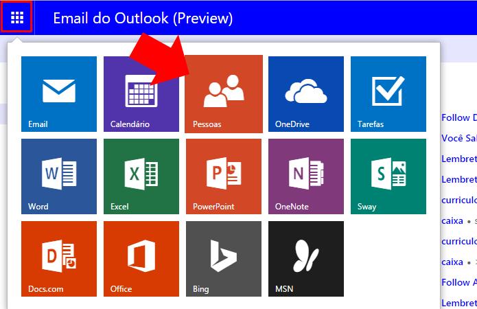Acesse sua agenda do Outlook.com (Foto: Reprodução/Paulo Alves)
