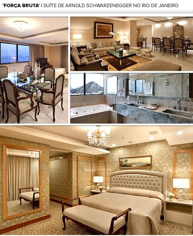 Mosaico quarto hotel Arnold Schwarzenegger (Foto: Editoria de Arte)