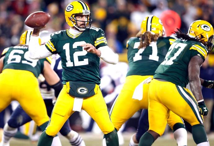Aaron Rodgers, Green Bay Packers x New England Patriots (Foto: Agência Reutes)