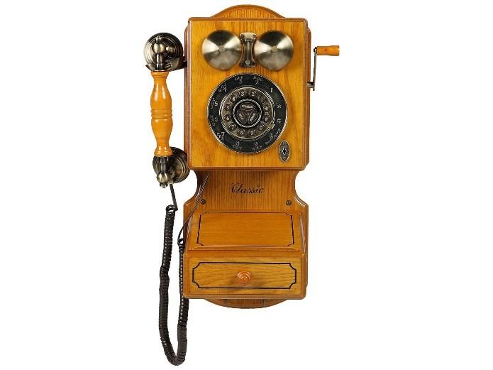 Telefone com fio Classic Bell para dar mais charme à decoração da casa (Foto: Divulgação)