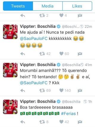 Boschilia São Paulo Twitter (Foto: Reprodução/Twitter)