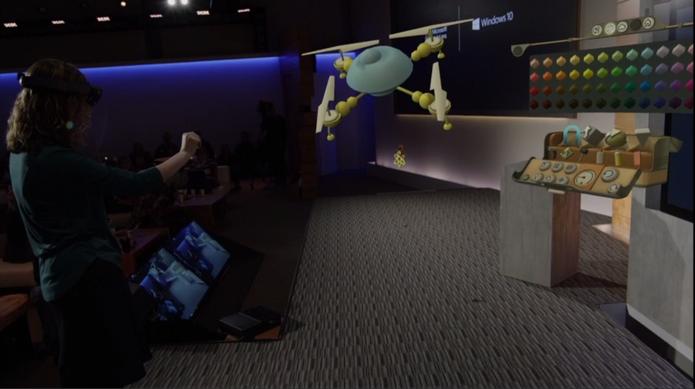 HoloLens da Microsoft promete transformar o mundo do usuário com holografias (Foto: Reprodução/Microsoft)