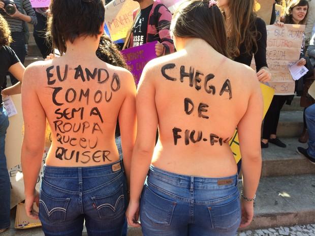 Grupo participa da 4ª edição da Marcha das Vadias de Florianópolis (Foto: Divulgação)