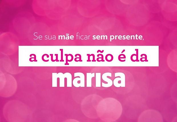 Campanha para o Dia das Mães da Lojas Marisa: aceno para depoimento de Lula a Sérgio Moro (Foto: Reprodução/Twitter)