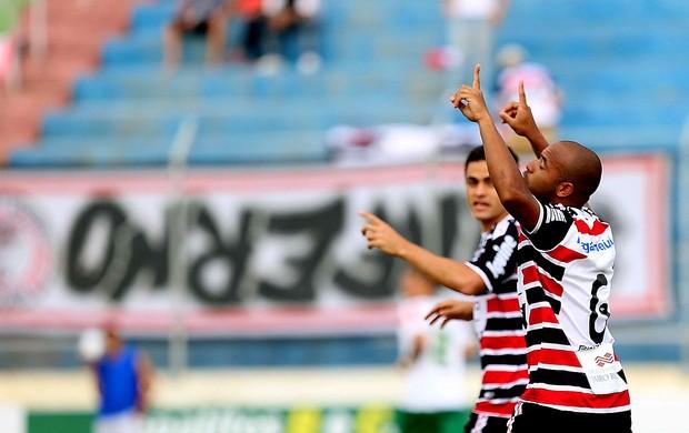 jogadores do santa cruz gol betim (Foto: Cristiane Mattos / Agência Estado)
