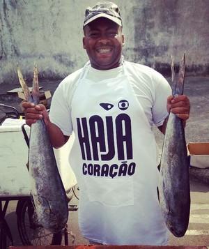 O vendedor de peixes Ezequiel Jesus Dias (Foto: Ana Paula Novaes)