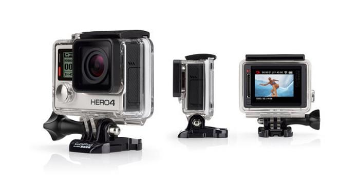 GoPro HERO4 Silver é a primeira câmera da marca com visor (Foto: Divulgação)