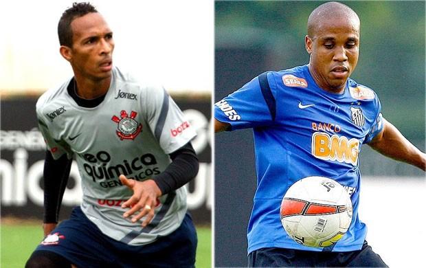 Liédson e Borges interessam ao Atlético-MG (Foto: Anderson Rodrigues e Ricardo Saibun)