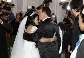 Casamento de Pepê e Thalyta Santos em São Paulo (Foto: Celso Tavares/ EGO)