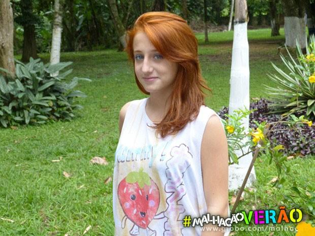 Cabeleira de atitude! Bruna Griphao ensina como cuidar dos cabelos vermelhos (Foto: Malhação / TV Globo)