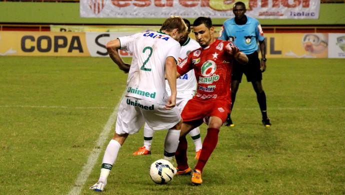 Volante Bruno Vieira fez sua estreia com a camisa do Rio Branco (Foto: João Paulo Maia)
