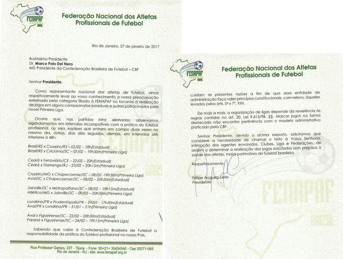 Requerimento CBF Jogos Chapecoense (Foto: Reprodução)