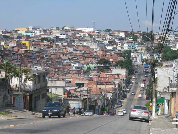 Favela no Parque Santo Antônio, na Zona Sul de São Paulo (Foto: Márcio Pinho/G1)