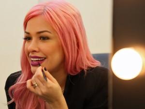 Nikki dá dica de boca marcada para a balada (Foto: Isabella Pinheiro/Gshow)