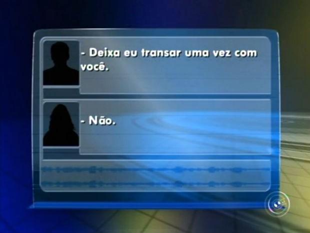 Jovem grava áudio durante assédio sexual e denuncia padrasto (Foto: Reprodução/TV TEM)