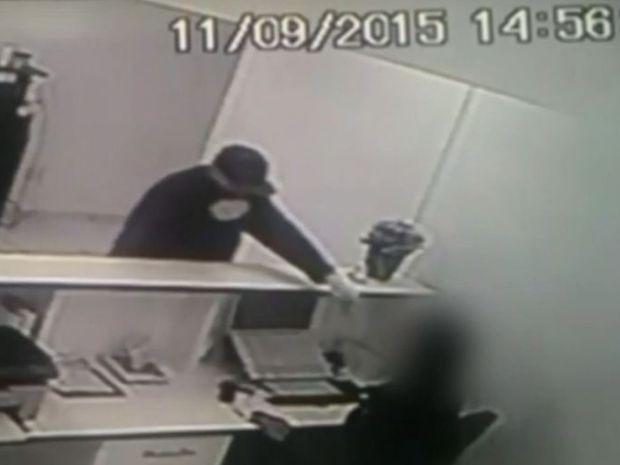Criminosos assaltaram empresa em Bauru (Foto: Reprodução / Circuito Segurança)