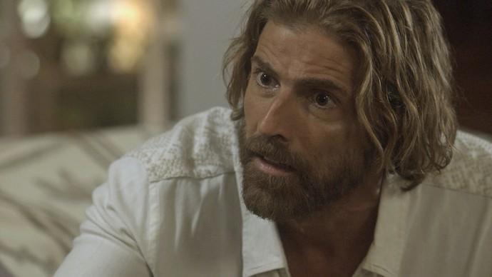 O velejador não consegue acreditar no que escuta (Foto: TV Globo)