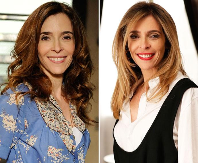 Antes e depois: à esquerda, em 'Sangue Bom'; à direita, em 'A Regra do Jogo' (Foto: Estevam Avellar/Globo/Ellen Soares/Gshow)
