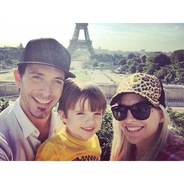 Clara Aguilar com o ex-Fabian, e Max, em 2015 (Foto: Reprodução/Instagram)