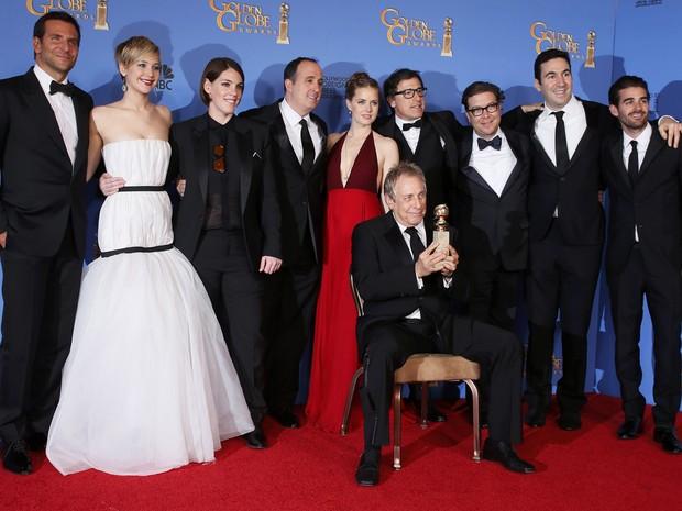 'Trapaça' vence o prêmio de melhor filme de comédia ou musical no 71º Globo de Ouro, que acontece neste domingo (12), em Los Angeles. (Foto: REUTERS/Lucy Nicholson)