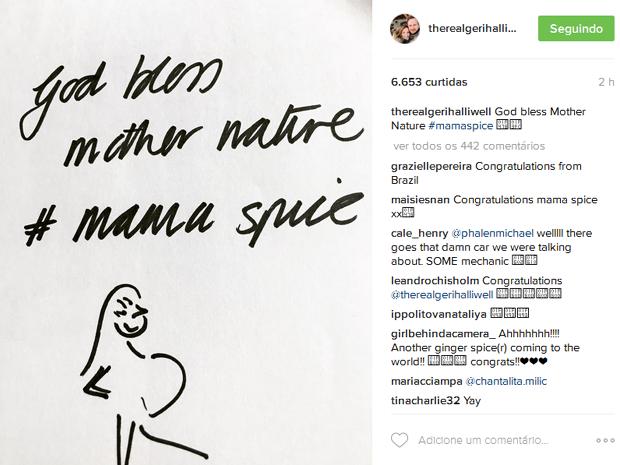 Post de Geri no Instagram (Foto: Reprodução)