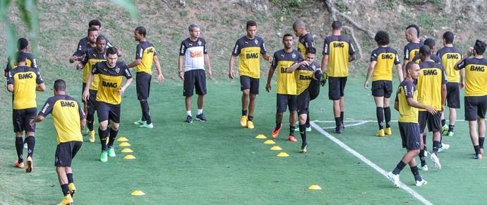 Jogadores do Atlético-MG fazem treino físico (Foto: Bruno Cantini / Flickr do Atlético-MG)