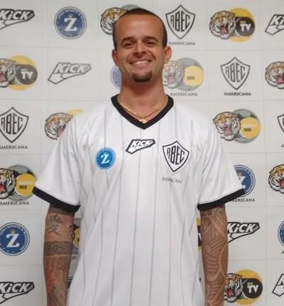 André Luiz atacante Rio Branco-SP (Foto: Nacim Elias)