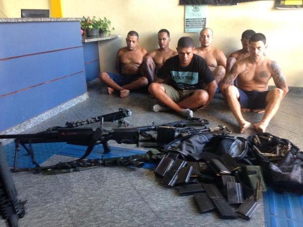 Fu da Mineira e outros criminosos foram presos no Chapadão, Rio (Foto: Divulgação/ Polícia Militar)