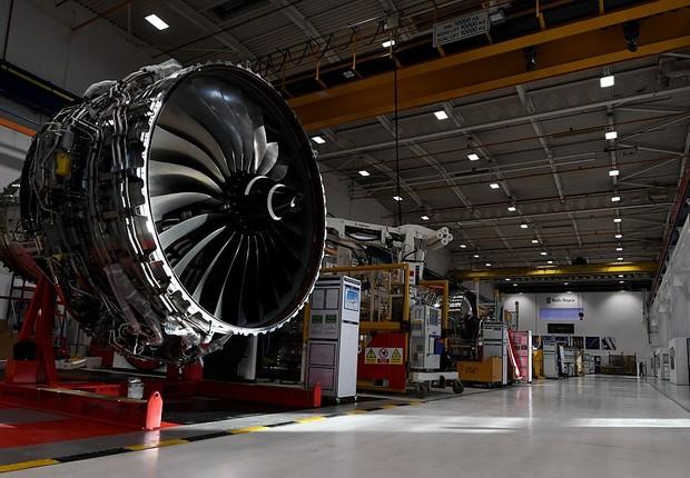 Fábrica da  Rolls Royce  (Foto: Paul Ellis - WPA Pool/Getty Images)