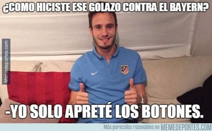 Saul Atlético de Madrid meme (Foto: Reprodução/Twitter)