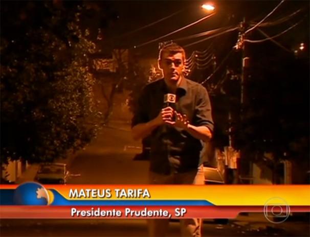 Mateus Tarifa fez a reportagem mostrada no Bom Dia Brasil (Foto: reprodução TV Globo)