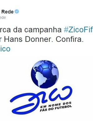 Zico lança logomarca da campanha à Fifa