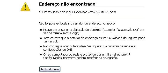 HTTP 404 normalmente indica página em manutenção (Foto: Reprodução/Paulo Alves)