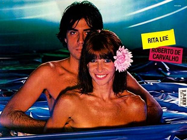 Rita Lee e Roberto Carvalho estamparam a capa do álbum de 1982 (Foto: Reprodução)